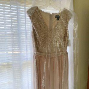 Champagne-colored Bridesmaid Dress